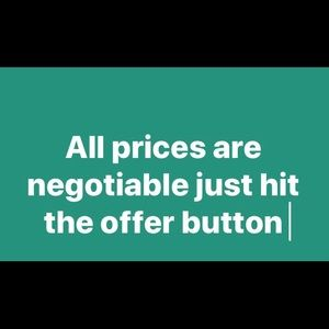 Negotiable Prices